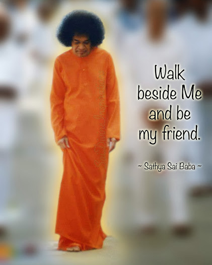Walk beside me and be my friend.